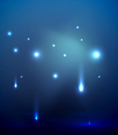 lumières tombant dans l & # 39 ;