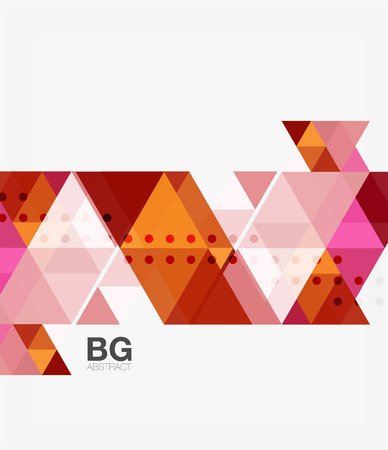 repetition: Vector abstract colorful triangle repetition