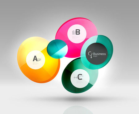 glas 3d: Glass circle infographics