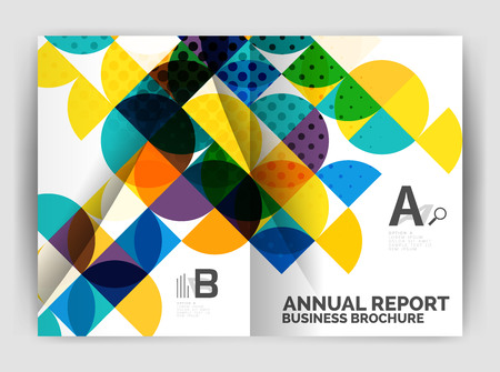 Abstract circle design business annual report print template. Business brochure or flyer abstract background. Ilustração