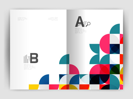 Abstract circle design business annual report print template. Business brochure or flyer abstract background. Illustration