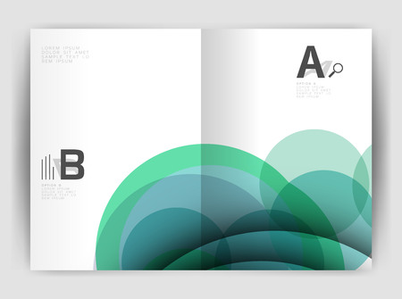 Abstract circles, annual report cover. Modern business brochure template. Business flyer abstract background.