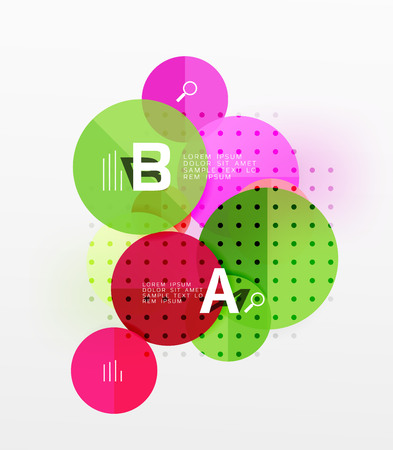 Vector circle banner. Vector template background for workflow layout, diagram, number options or web design.