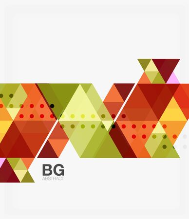 Vector abstract colorful triangle repetition. Vector template background for workflow layout, diagram, number options or web design. Illustration