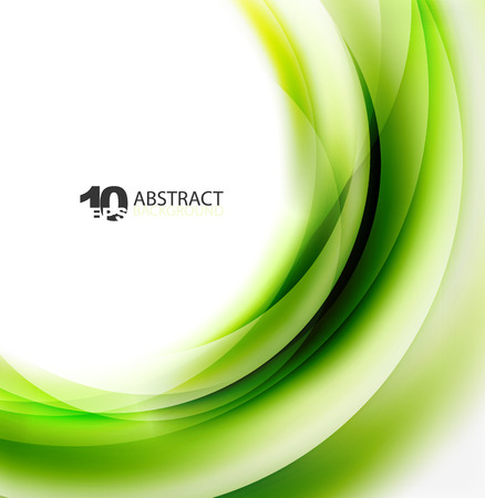 Smooth wave template. Abstract background - vector eps10 illustration