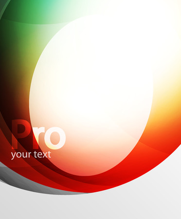 Abstract background, swirl wave line template