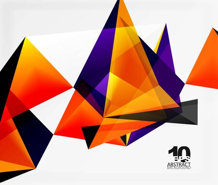 3d triangles geometric vector abstract background. Empty modern illustration for your message, text slogan or presentation wallpaper