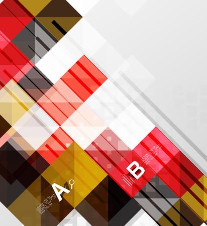 インフォ グラフィックと灰色の抽象的な背景のベクトル正方形要素  イラスト・ベクター素材