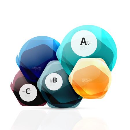 Aqua glossy glass elements Illustration