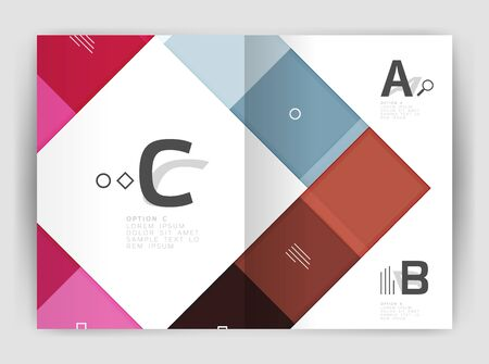size: Vector modern geometrical a4 flyer brochure template Illustration