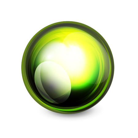 metal ball: Glass sphere, futuristic abstract element