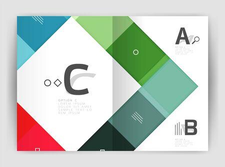 Vector modern geometrical a4 flier brochure template Illustration