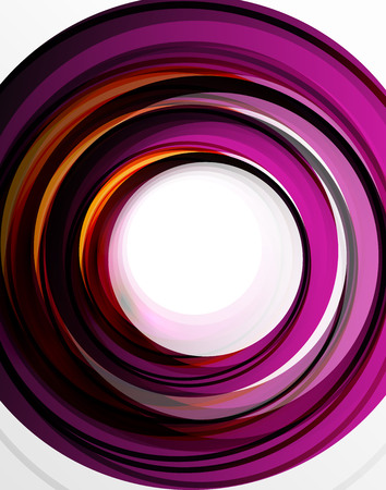 Swirl and circles, futuristic geometrical abstract background