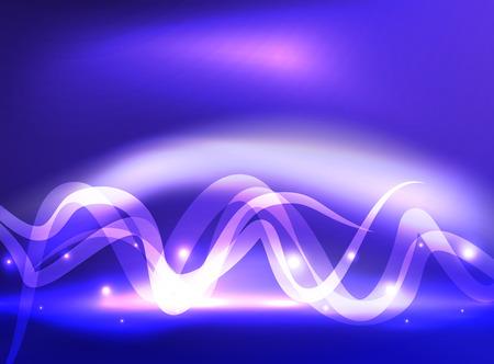 Glowing shiny wave background Illustration