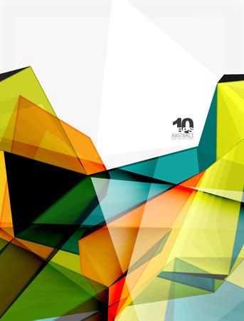 Low poly geometric 3d shape background