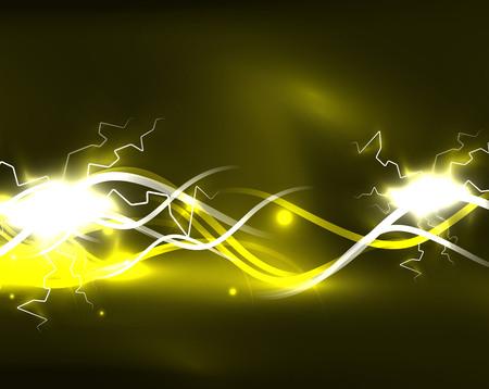 Glowing wavy lines template Иллюстрация