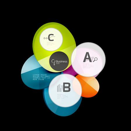幾何学的な抽象的なインフォ グラフィック バナー テンプレート  イラスト・ベクター素材