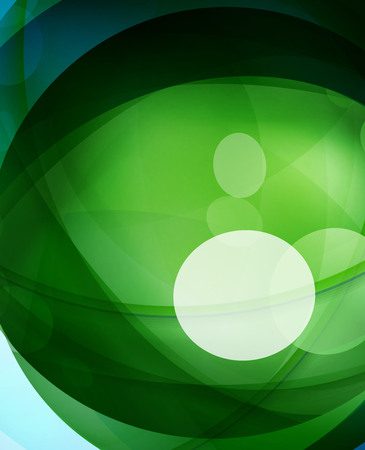 crystal button: Glossy glass shiny bubble abstract background, wave lines. Vector illustration