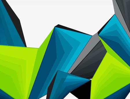 Lage poly geometrische 3d vorm futuristische moderne achtergrond. Vector lege sjabloon voor uw tekst of ontwerp Stock Illustratie