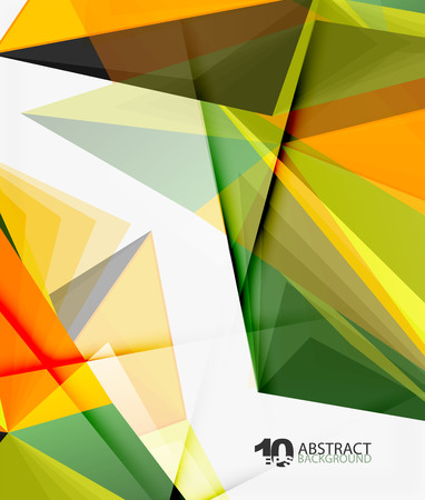 3d triangle polygonal abstract vector, creative modern abstract background for text, presentation wallpaper Illustration