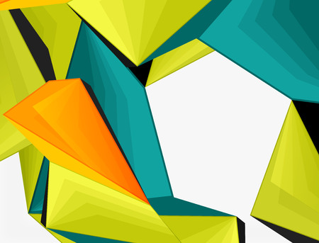 Low poly geometric 3d shape futuristic modern background. Vector blank template for your text or design