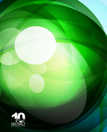 Glossy glass shiny bubble abstract background, wave lines