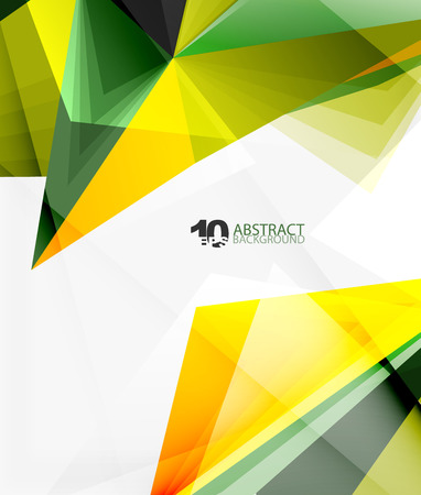 3d triangle polygonal abstract vector Illustration