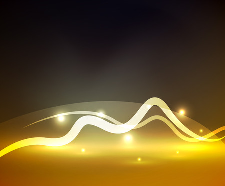 glitz: Glowing magic wave line with light effects in darkness
