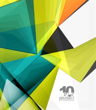 Low poly geometric 3d shape background Ilustração Vetorial