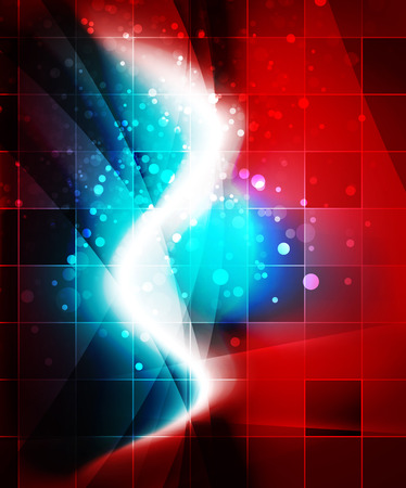 red sound: Shiny wave, magicabstract background Illustration