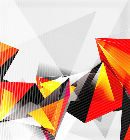 3d triangles and pyramids, abstract geometric vector Illusztráció