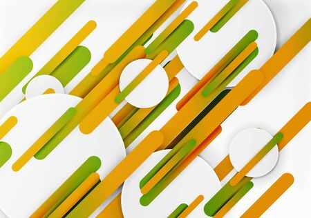Cut 3d paper color straight lines vector abstract background Illustration