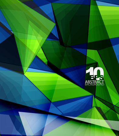 surface: Low poly geometric 3d shape background