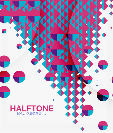 Halftone color texture vector background