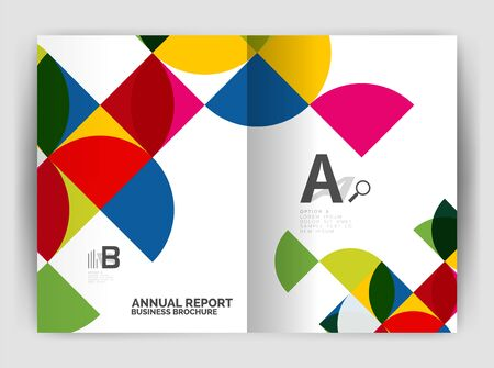 flyer background: Abstract circle design business annual report print template