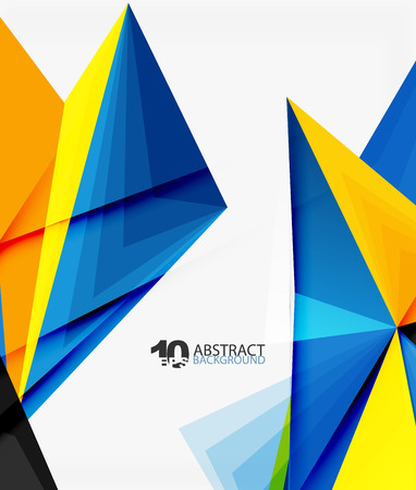 flyer background: 3d triangle polygonal abstract vector Illustration