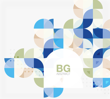 Abstract background of circle elements Illustration