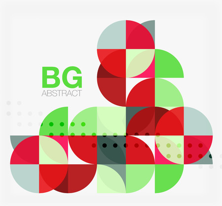 Modern geometrical abstract background. Vector template background for workflow layout, diagram, number options or web design Illustration