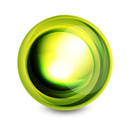 letras cromadas: Glass sphere, futuristic abstract element. Vector illustration for your text, photo inside or message.