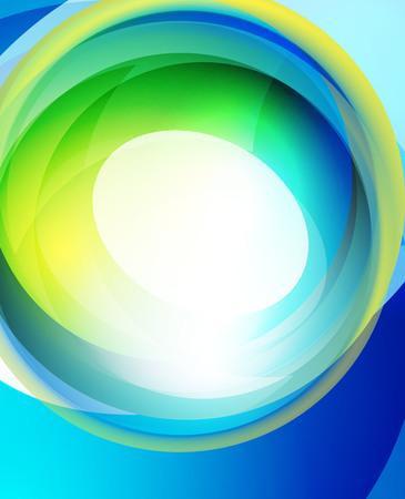 wave hello: Shiny wave, glass futuristic hi-tech design. Vector abstract background Stock Photo
