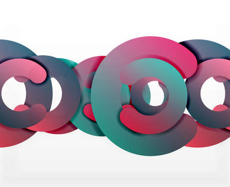 circle geometric abstract background colorful business or