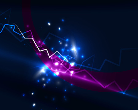 shiny background: Neon lightning vector background Illustration