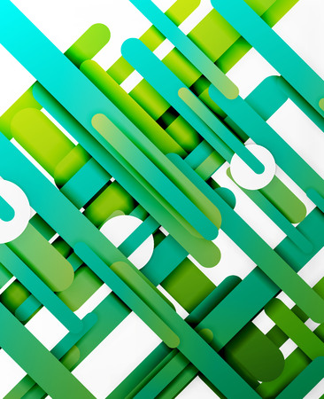shiny background: Cut 3d paper color straight lines vector abstract background Illustration