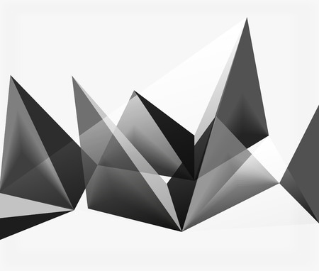 futuristic interior: White vector 3d triangle textured background Illustration