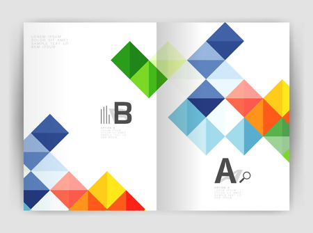 Square annual report brochure a4 print template Illustration
