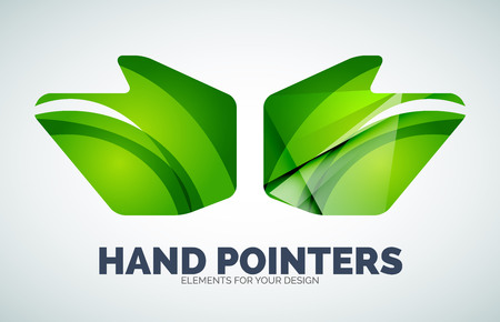 Vector hand mouse pointer, geometric abstract design
