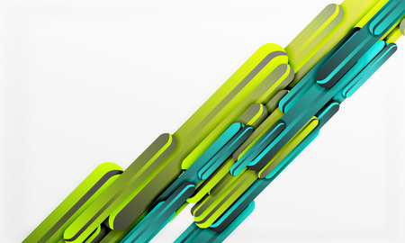 Straight blue and green lines vector abstract background