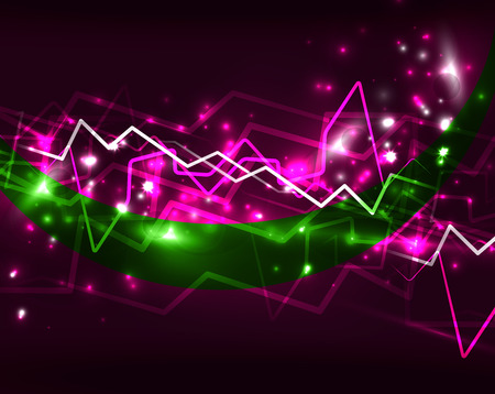 high voltage: Neon lightning vector background Illustration