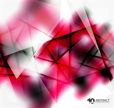 business graphics: Hi-tech or business futuristic blurred template, blurred colors with shadow Illustration