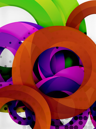Circle vector background design with abstract swirls